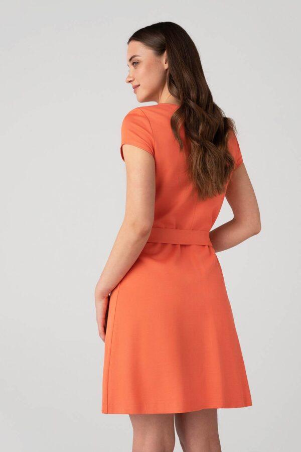 Suknelė trumpomis rankovėmis su diržu - Tauri Look