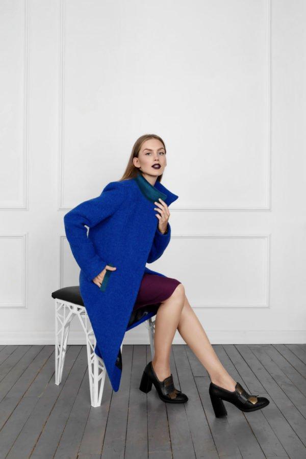 klasikinis moteriškas paltas Debesyse - Tauri look