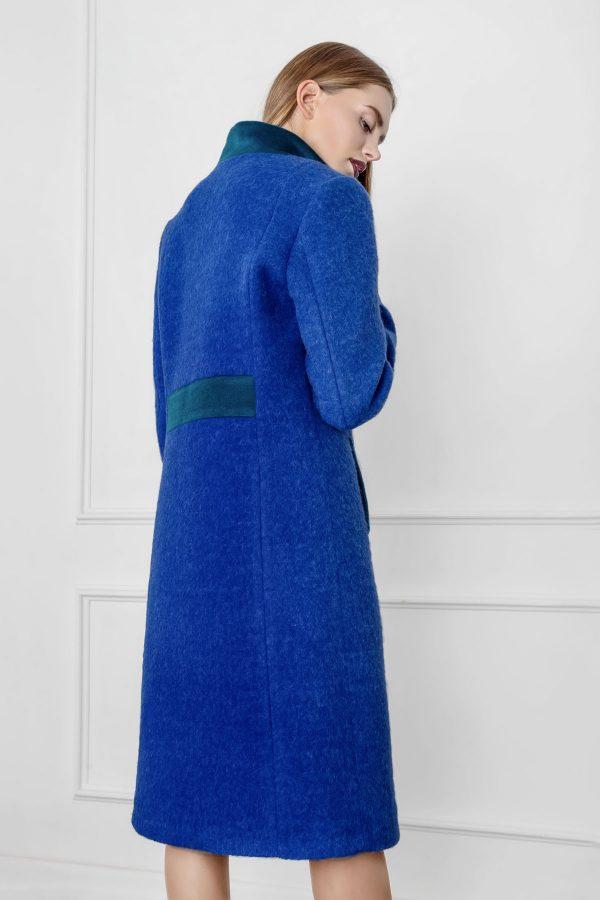 Mėlynas moteriškas paltas Debesyse - Tauri look