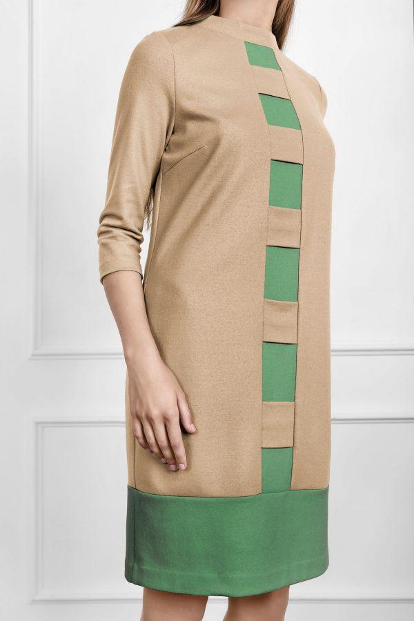 Stilinga kokybiška kreminė suknelė internetu