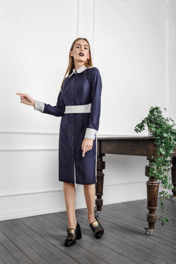 Klasikinė suknelė marškiniai iš rudens/žiemos Tauri Look kolekcijos