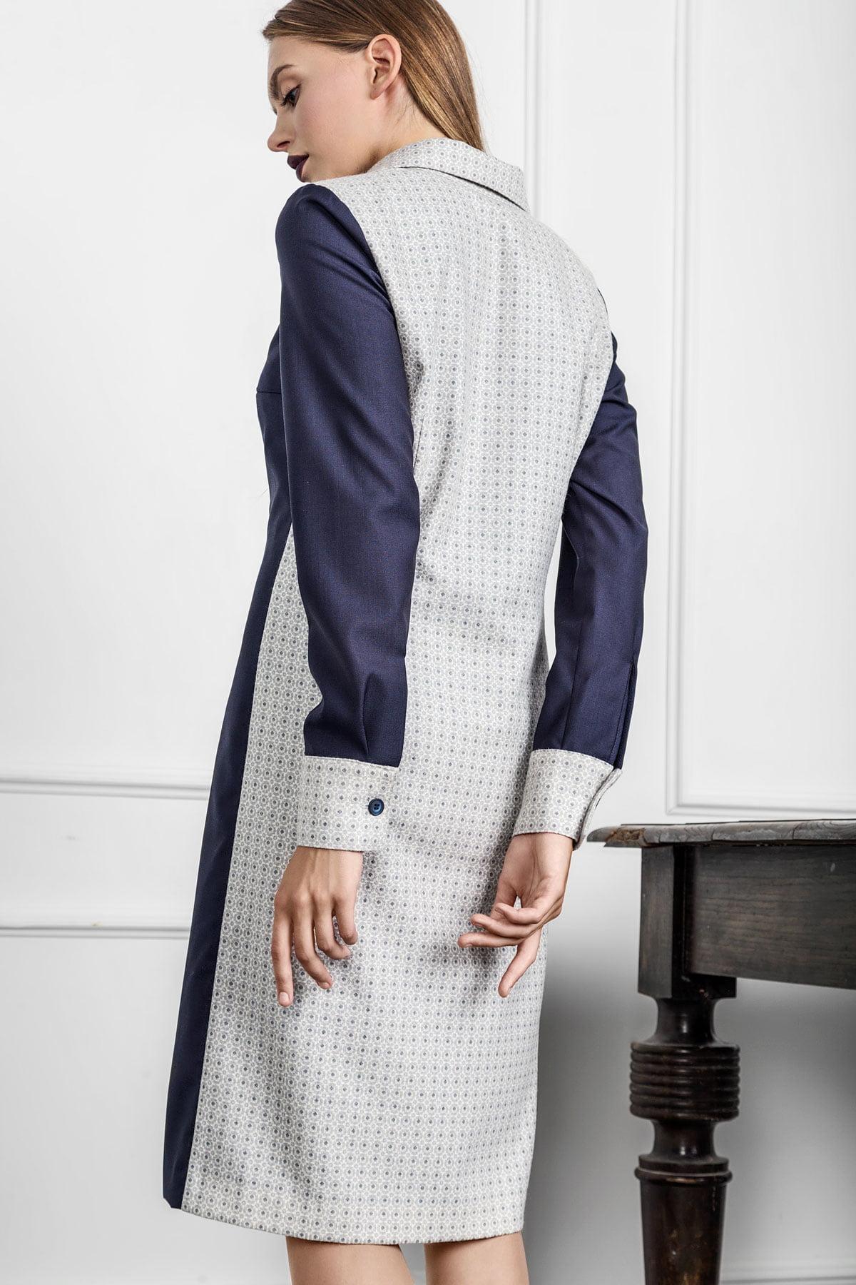 Klasikinės suknelės marškinių ilgis ir siluetas tobulai atitinka dalykinio etiketo rekomendacijas