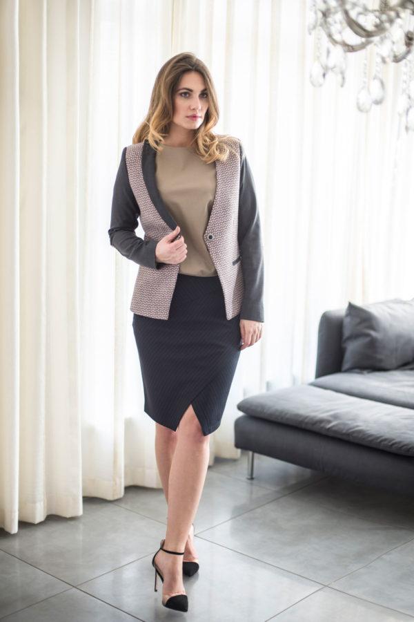 """Klasikinis moteriškas švarkas """"My own jacket 3"""" - TAURI LOOK"""