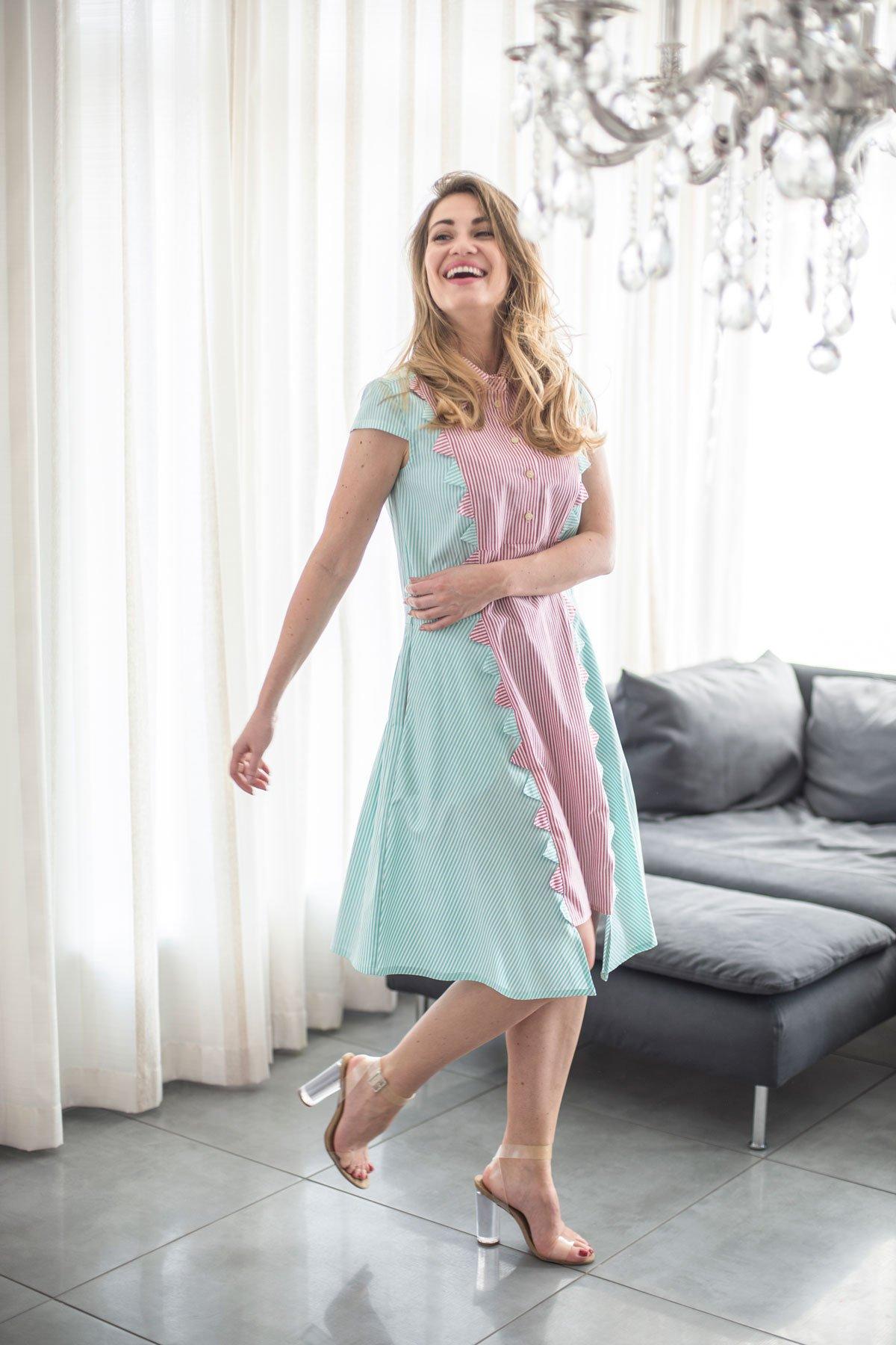 """Medvilninė suknelė marškiniai """"My own dress 16"""" - TAURI LOOK"""