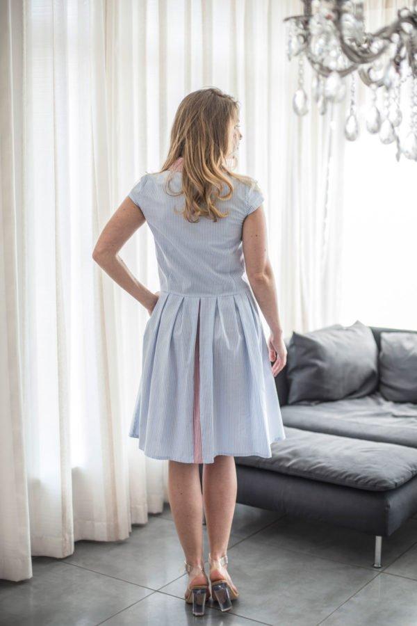 """Medvilninė suknelė """"My own dress 16"""" - suknelė su klostuosu sijonu"""