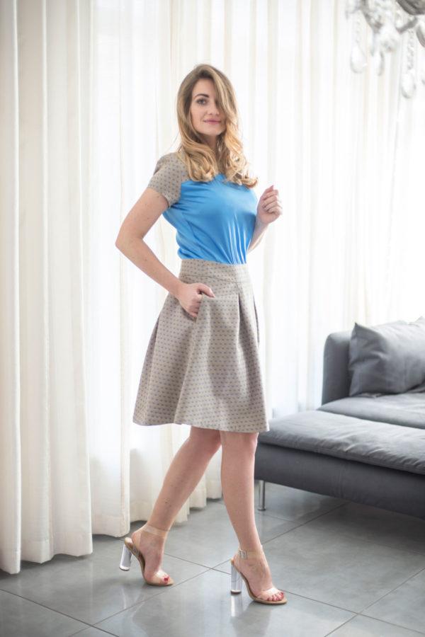 """Natūralaus šilko ir medvilnės suknelė """"My own dress 13"""""""