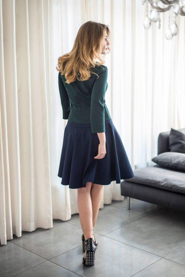 """Suknelė """"My own dress 14"""" žalia su mėlynu sijonu - pavasariui vasarai suknelė internetu"""
