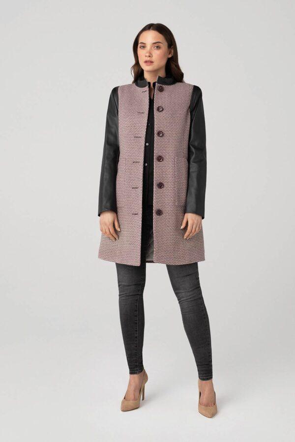 Moteriškas paltas rudeniui pavasariui tiesaus kirpimo - Tauri Look