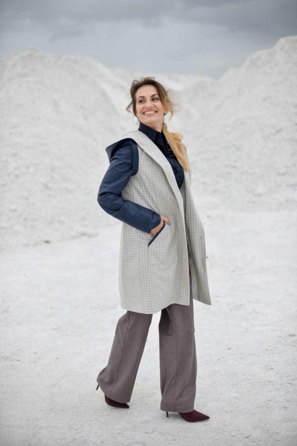 "Stilingas klasikinis vilnos paltas ""My own coat 4"""