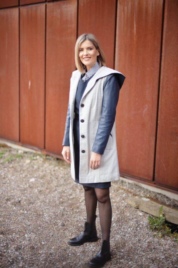 Stilingas vilnos paltas internetu - Tauri Look