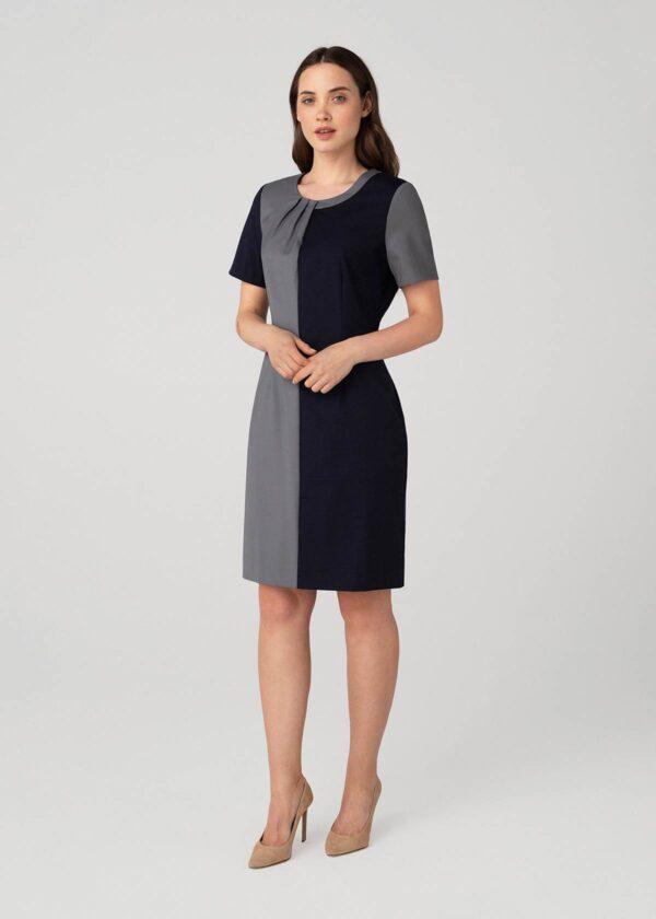 Tamsi klasikinė suknelė rudeniui pavasariui - Tauri Look