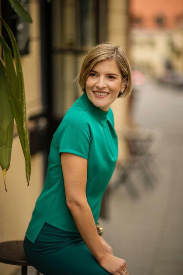 Stilingos palaidinės internetu - žalios spalvos - Tauri Look
