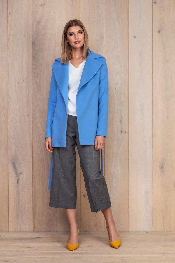 Šviesiai mėlynas švarkas su balta palaidine - My own jacket 9