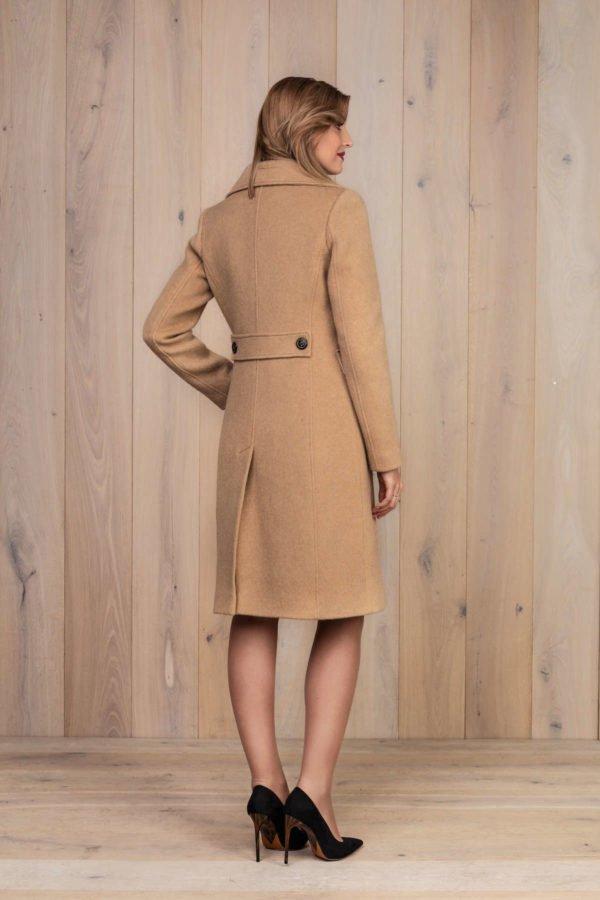 Camel spalbos klasikinis paltas - My own coat 5 - Tauri Look rudens žiemos kolekcija