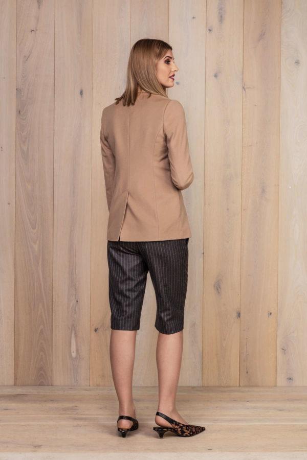 Camel spalvos moteriškas švarkas ir kostiuminiai moteriški šortai - My own jacket 10