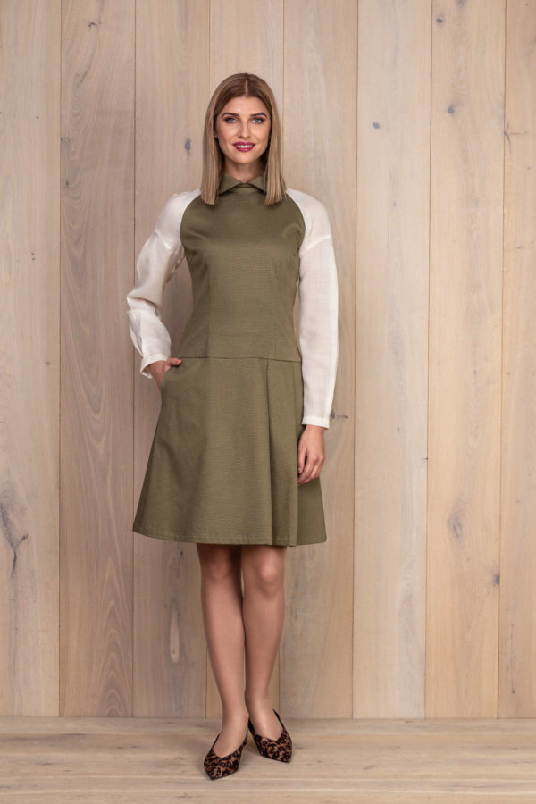 Chaki spalvos suknelė - My own dress 28 - Tauri Look