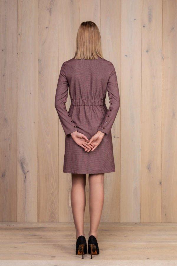 Elegantiška raudona medvilninė suknelė - My own dress 27