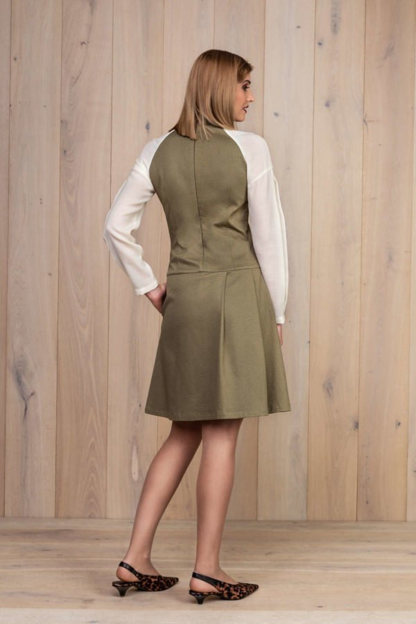 Išskirtinė Chaki spalvos suknelė - Tauri Look kolekcija