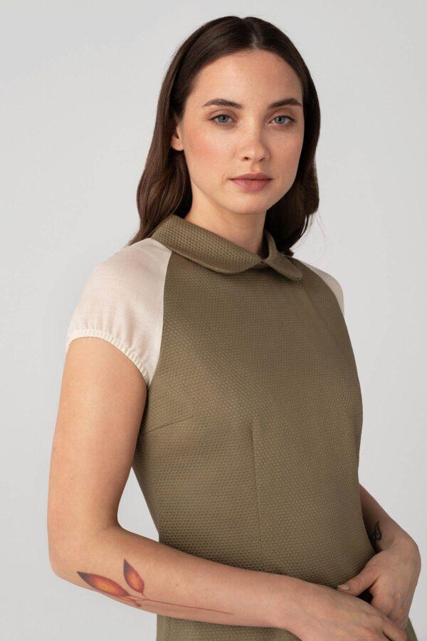 Kūno spalvos suknelė internetu - Tauri Look