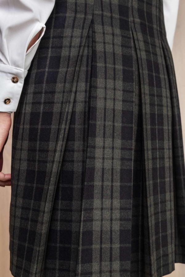 Languotas švarko tipo sarafanas su pliusuotu sijonu - My own dress 26