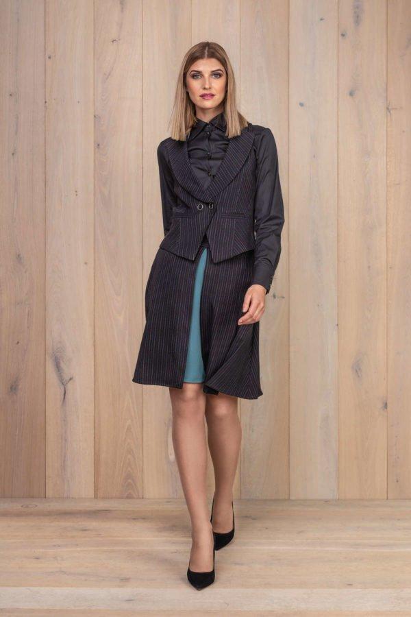 Liemenė ir sijonas su žaliu šifonus - Tauri Look