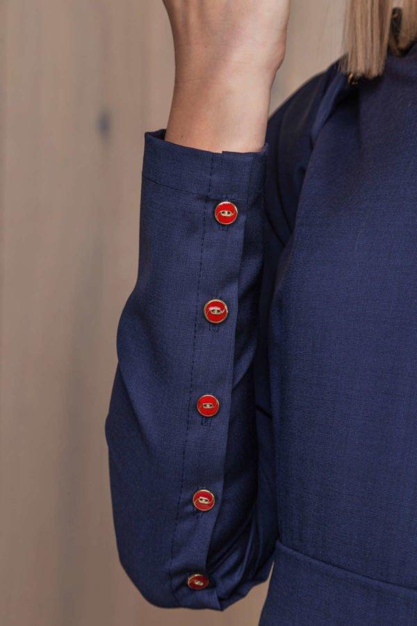 Mėlyna suknelė iš vilnos - My own dress 27