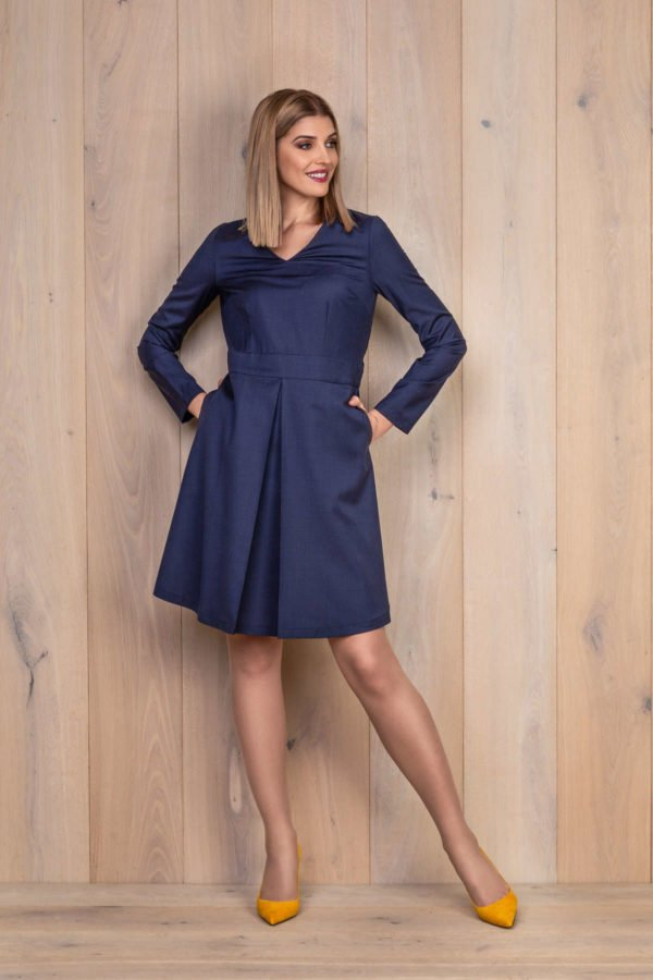 Mėlyna suknelė iš vilnos - My own dress 27 - Tauri Look