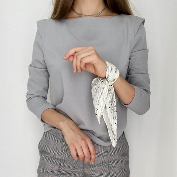 Pilka palaidinė ilgomis rankovėmis - Tauri Look