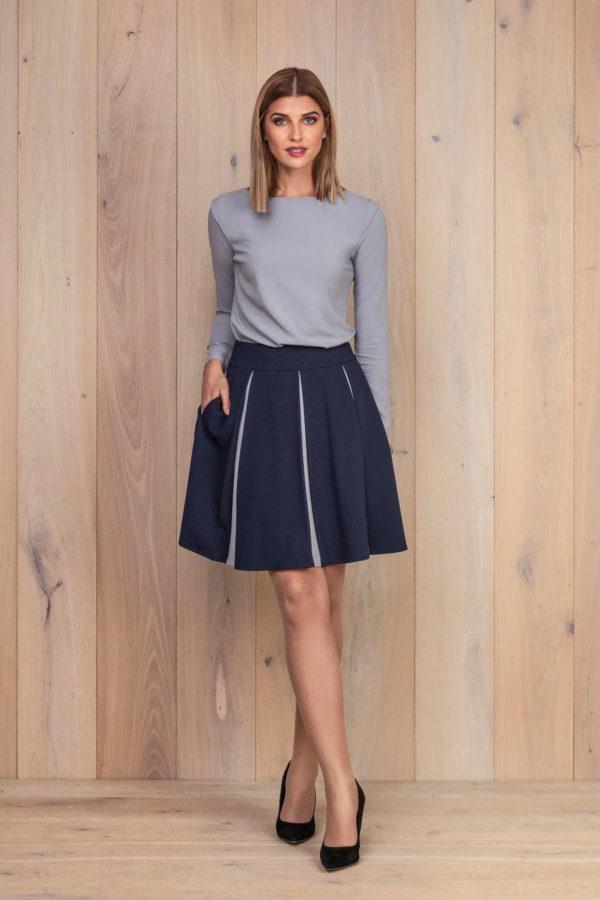 Platėjantis sijonas su palaidine ilgomis rankovėmis - įsigyk internetu