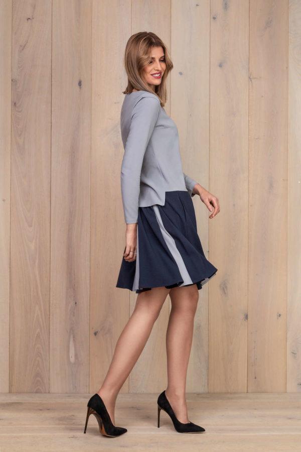 Platėjantis sijonas su palaidine ilgomis rankovėmis - Tauri Look rudens kolekcija