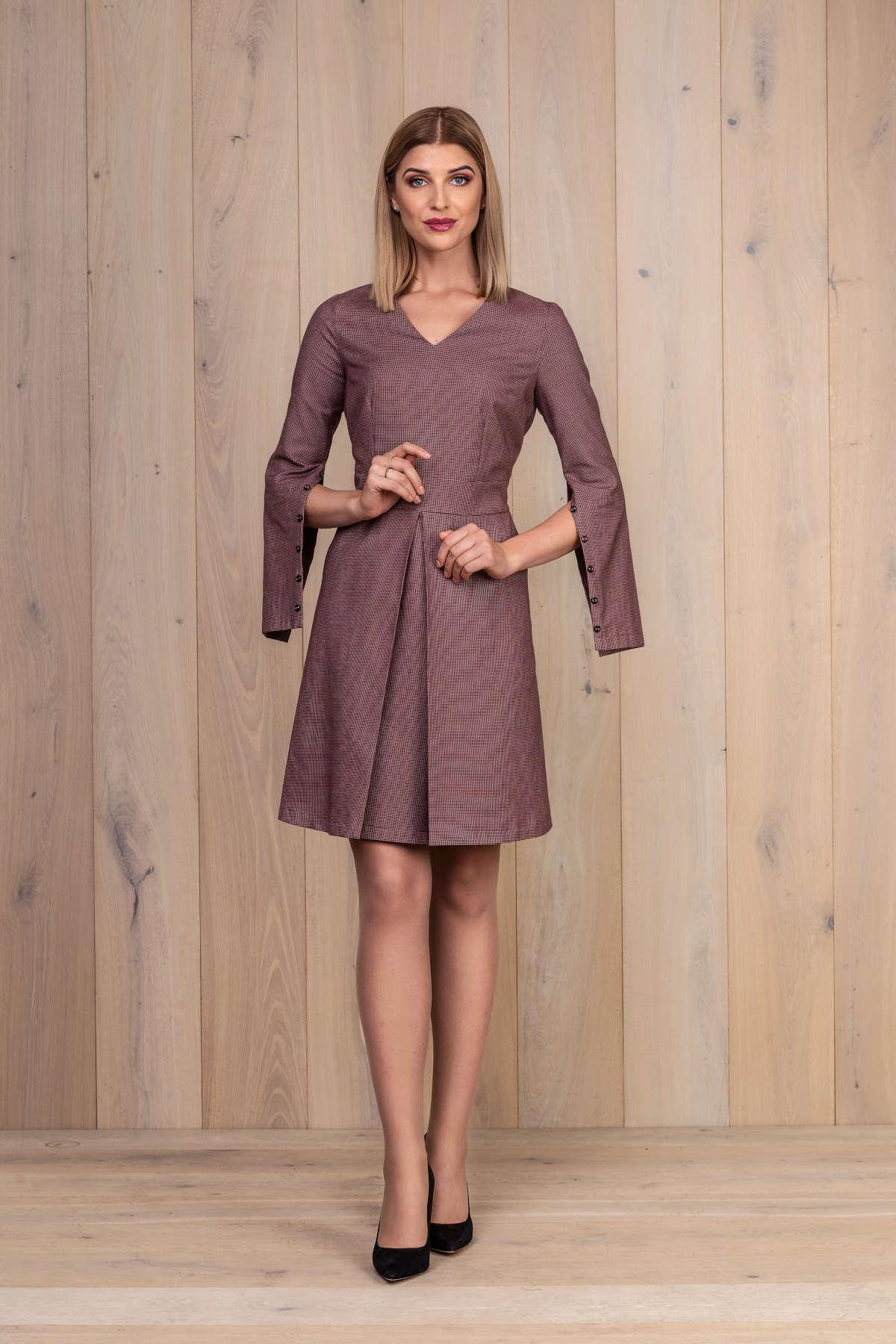 Raudona medvilninė suknelė - My own dress 27