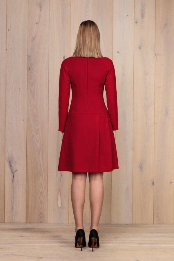 "Raudona vilnos suknelė - My own dress 28"" (3)"