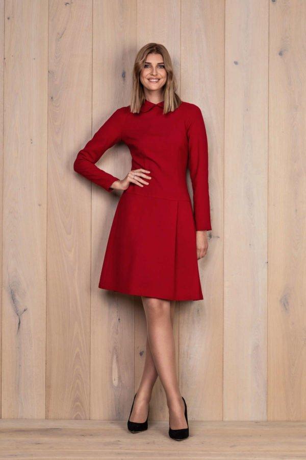 Raudona vilnos suknelė - My own dress 28 - Tauri Look