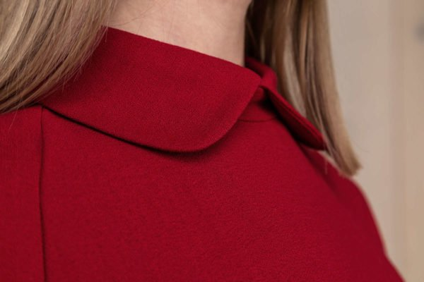Raudona vilnos suknelė - Tauri Look rudens kolekcija