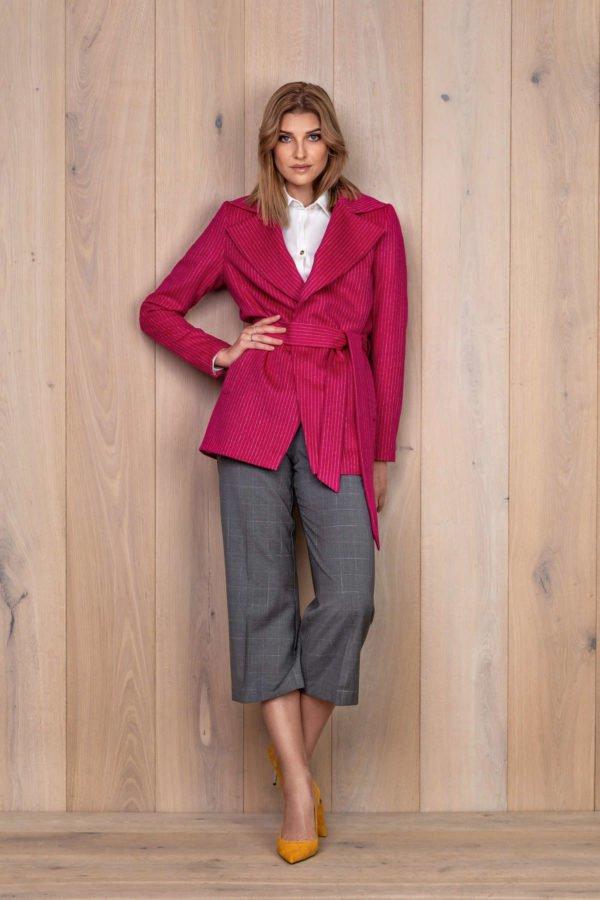 Ryškiai rožinis švarkas - My own jacket 9 - Tauri Look