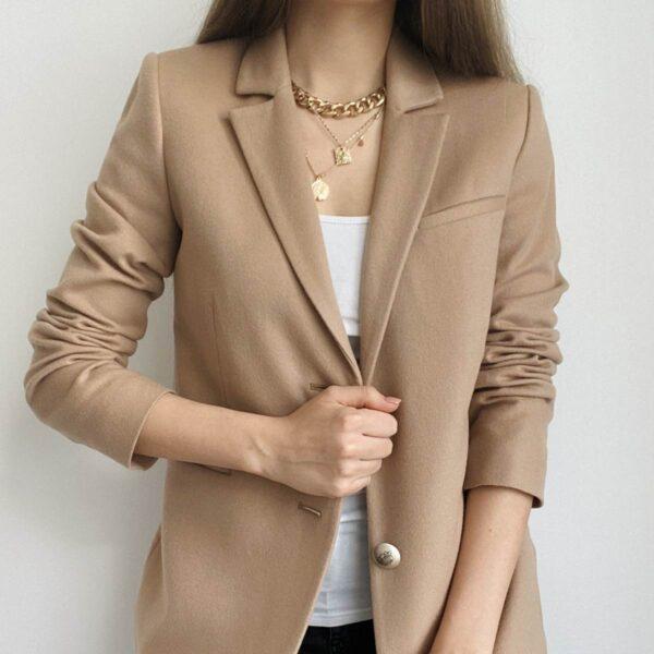 Smėlio spalvos moteriškas švarkas - Tauri Look