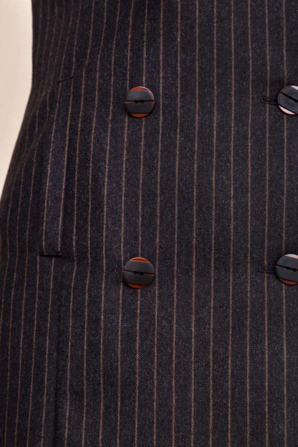 Vilnonis švarko tipo sarafanas dekoruotas sagomis - My own dress 26