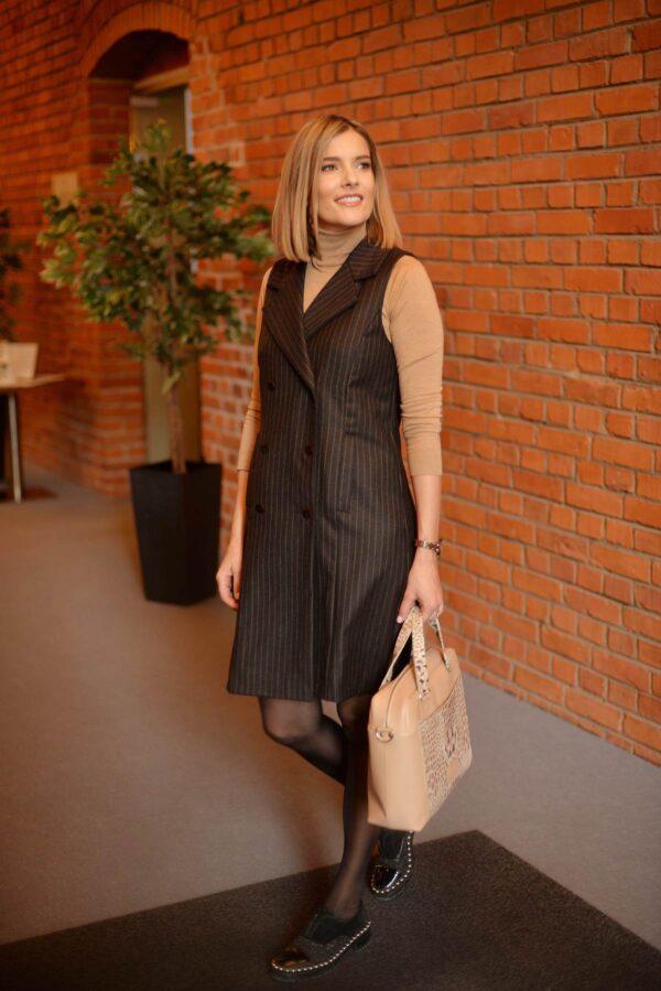 Tamsi švarko tipo suknelė - Tauri Look