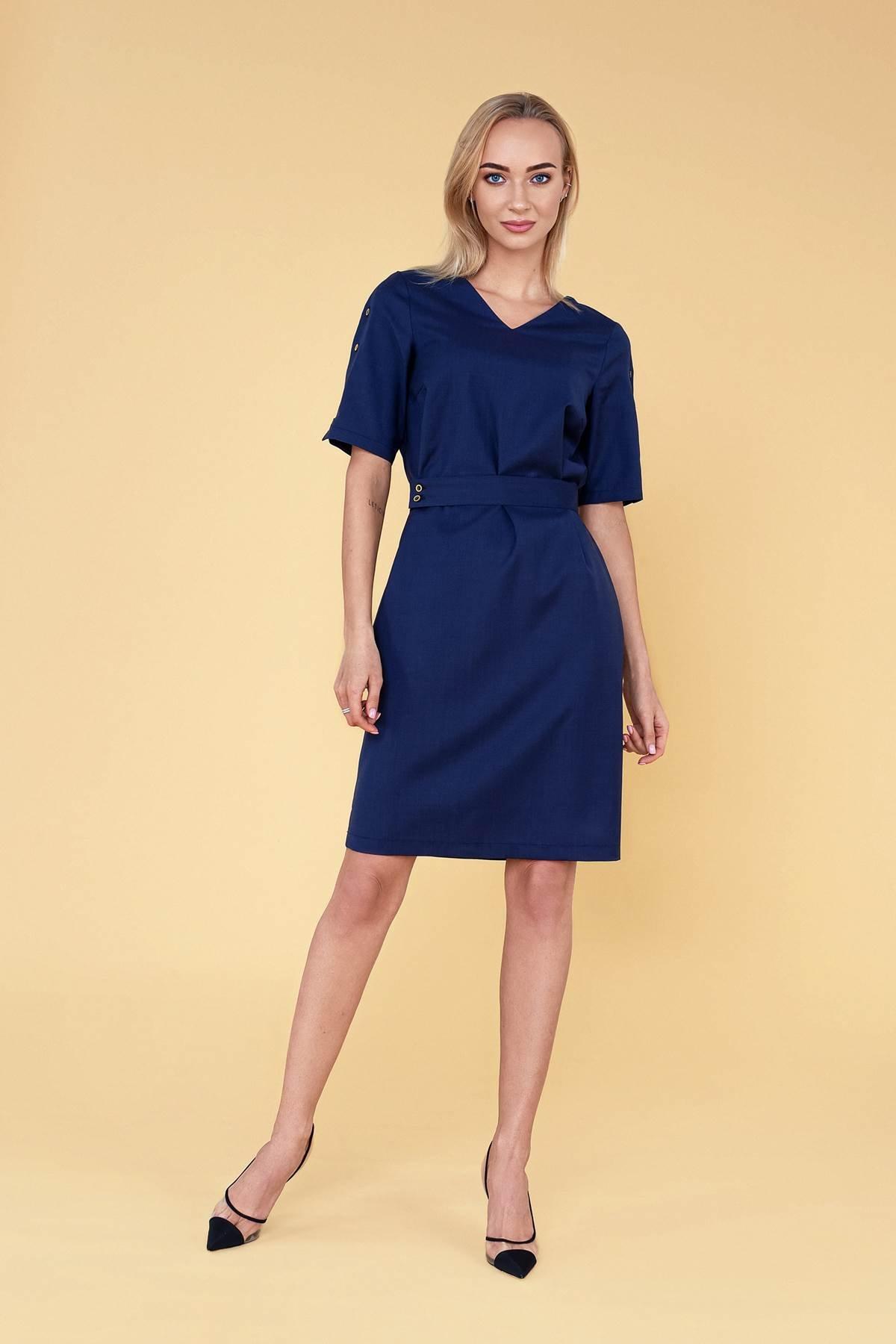 """Tamsiai mėlyna Dalykinė suknelė vasarai """"My own dress 32"""" - Tauti Look"""