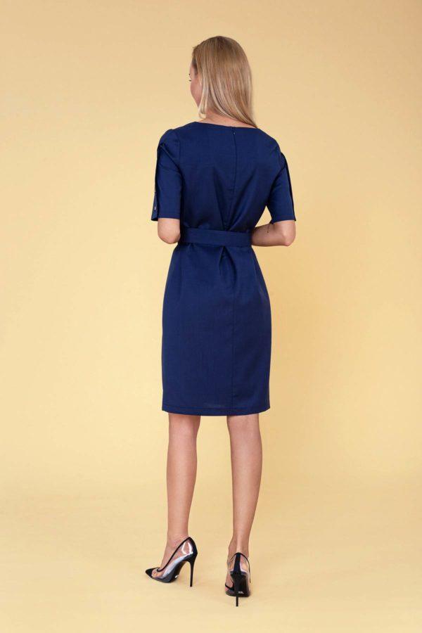 """Tamsiai mėlyna Dalykinė suknelė vasarai """"My own dress 32"""" - stulbinamas subtilumas"""