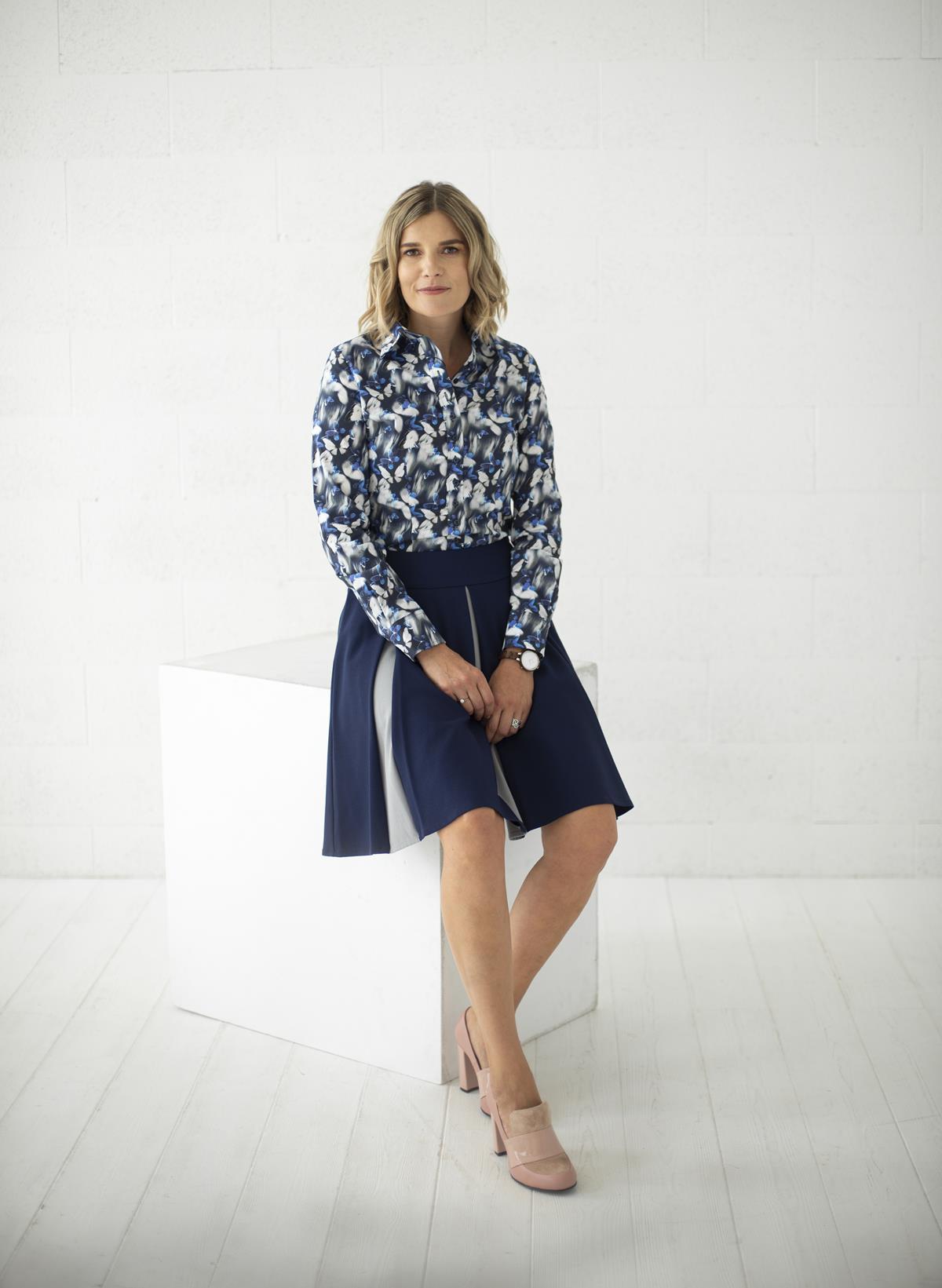 Mėlynas platėjantis sijonas - My own skirt 17 - Tauri Look