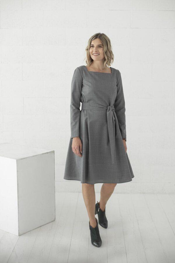 Pilka vilnos suknelė žiemai - My own dress 33 -Tauri look