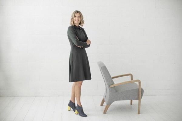 Suknelė ilgomis rankovėmis ofisui - Tauri Look