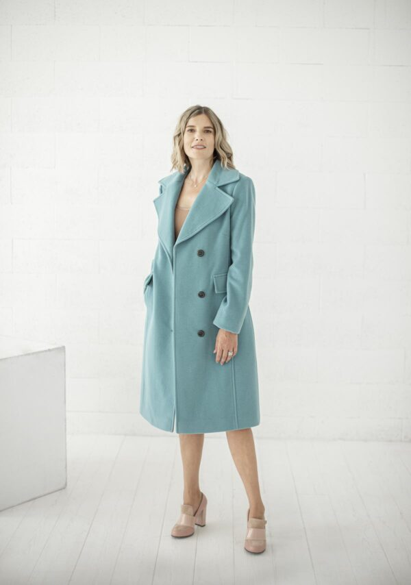 Turkio spalvos paltas su vilna internetu - Tauri Look