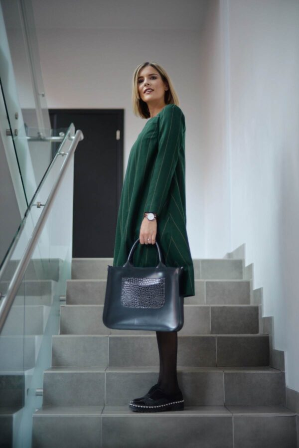 Žalia suknelė žiemai - Tauri Look