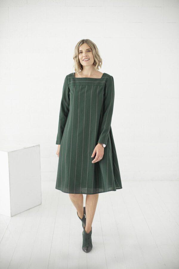 Žalia surišama suknelė žiemai - My own dress 34 - Tauri look