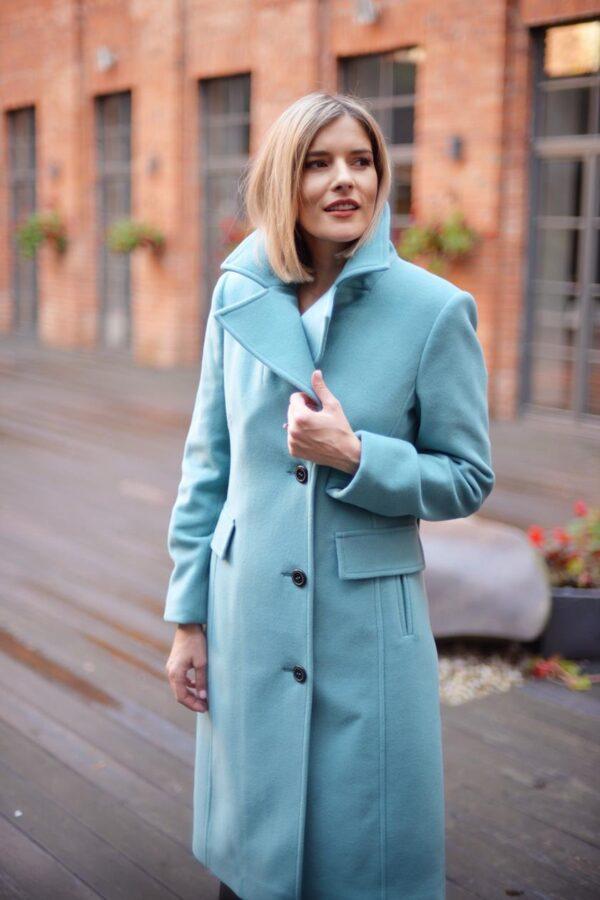 Kašmyro paltas turkio spalvos - Tauri Look