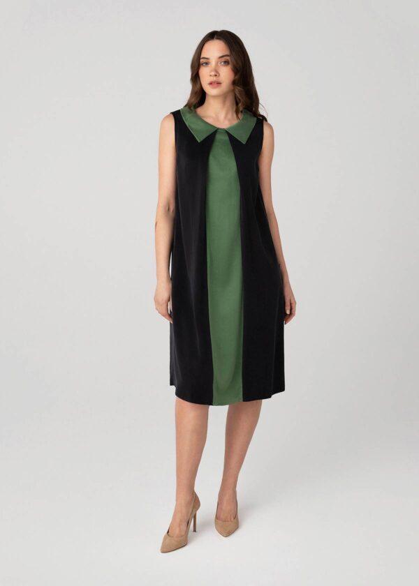 Stilingos suknelės apkūnioms - žalia - Tauri Look