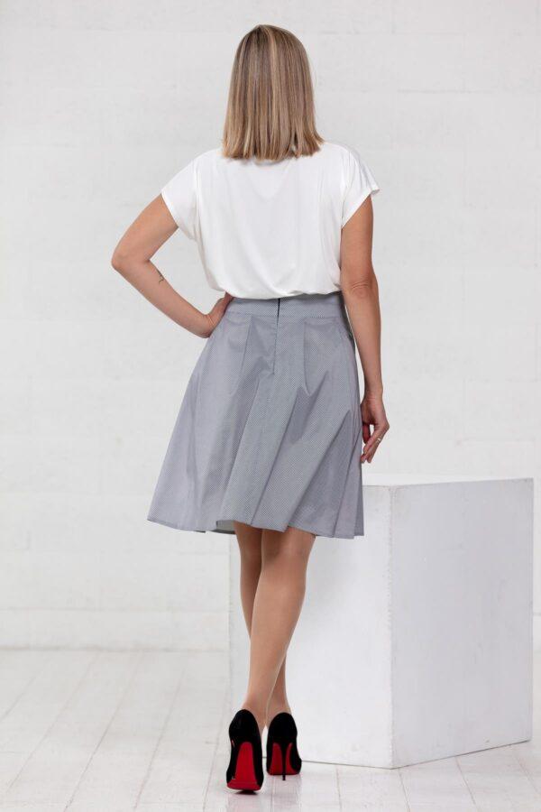 Juodai baltas languotas sijonas - Tauri Look