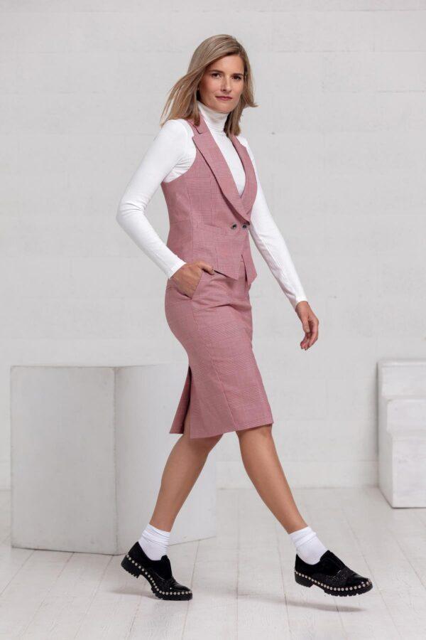 Klasikinis sijonas ir liemenė internetu - Tauri Look
